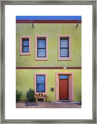 Green And Pink - Barrio Historico - Tucson Framed Print by Nikolyn McDonald