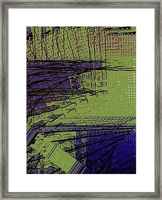 Green And Purple Field Framed Print