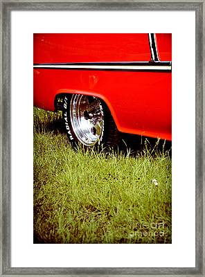 Green And Red Framed Print by Andreas Berheide