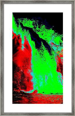 Green And Red Nightfall Framed Print by Erika Swartzkopf