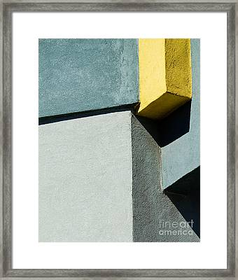 Green And Yellow Abstract Framed Print