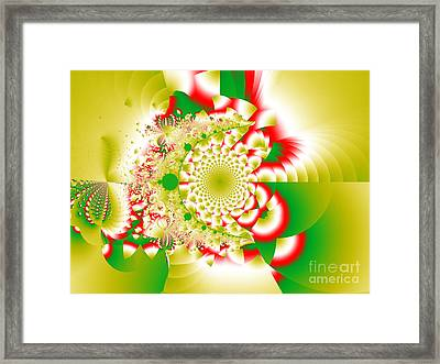 Green And Yellow Collide Framed Print