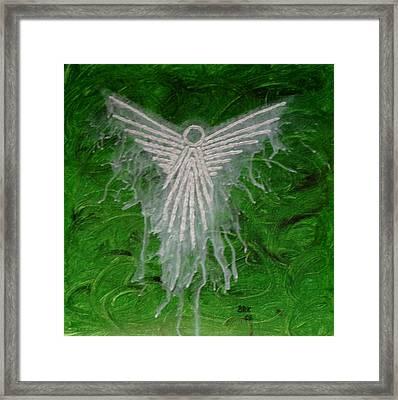 Green Angel Framed Print by Bo Klinge