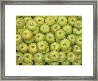 Green Apple Spread Framed Print by Ditz