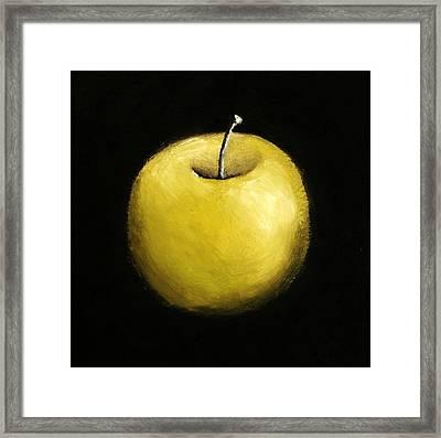 Green Apple Still Life 2.0 Framed Print by Michelle Calkins