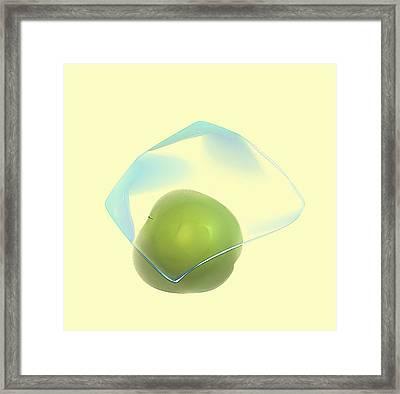 Green Apple  Framed Print by Viktor Savchenko