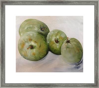 Green Apples Framed Print