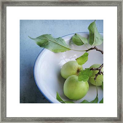 Green Apples Framed Print