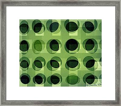 Green Astigmatism Framed Print by Teodoro De La Santa