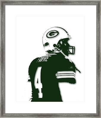 Green Bay Packers Bret Favre 2 Framed Print