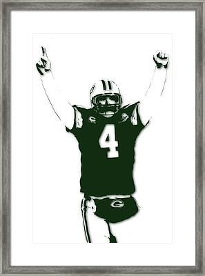 Green Bay Packers Bret Favre 3 Framed Print