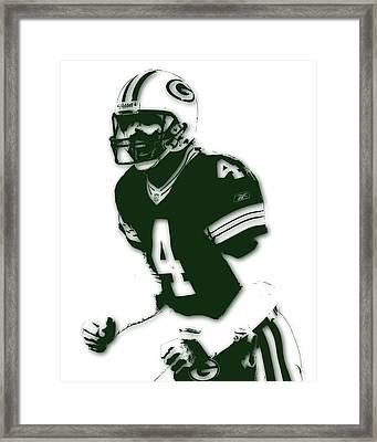 Green Bay Packers Bret Favre Framed Print