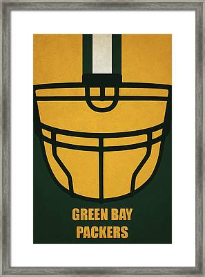 Green Bay Packers Helmet Art Framed Print