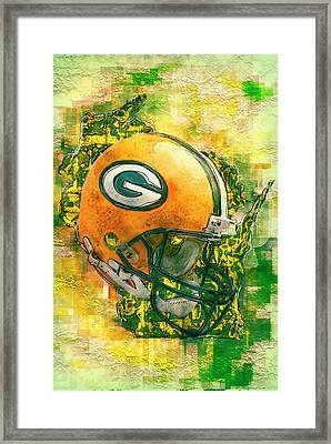 Green Bay Packers Framed Print by Jack Zulli