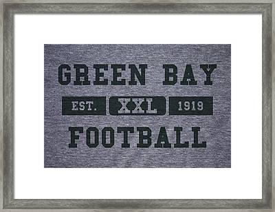 Green Bay Packers Retro Shirt Framed Print by Joe Hamilton