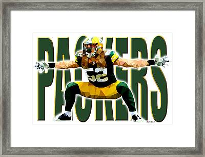 Framed Print featuring the digital art Green Bay Packers by Stephen Younts