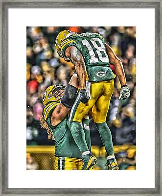 Green Bay Packers Team Art Framed Print