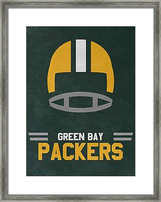 Green Bay Packers Vintage Art Framed Print