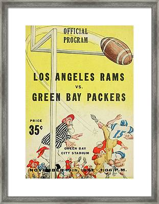 Green Bay Packers Vintage Program 3 Framed Print