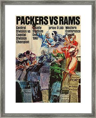 Green Bay Packers Vintage Program 4 Framed Print