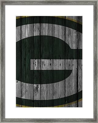 Green Bay Packers Wood Fence Framed Print by Joe Hamilton