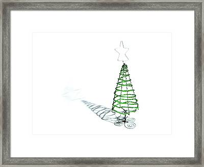 Green Bead Christmas Tree II Framed Print