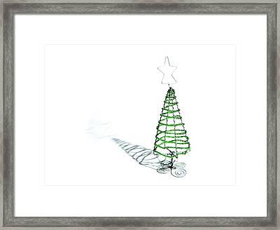 Green Bead Christmas Tree II Framed Print