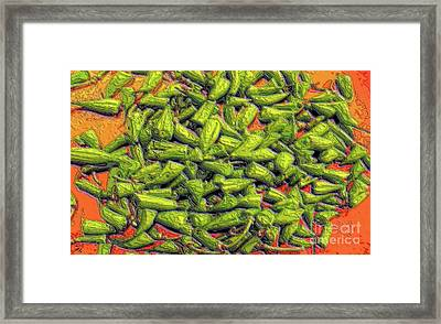 Green Bean Tips Framed Print