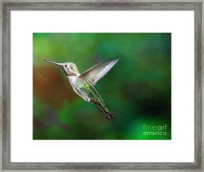 Green Beauty Framed Print by David Millenheft