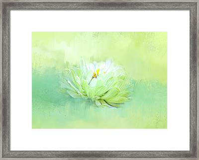 Green Beauty Floating Framed Print