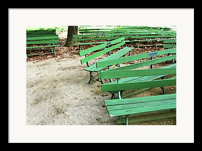 Park Benches Mixed Media Framed Prints