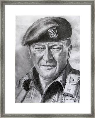 Green Beret Framed Print