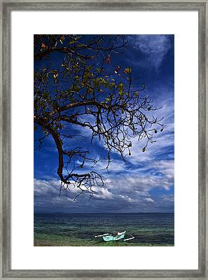 Green Boat Framed Print by George Cabig