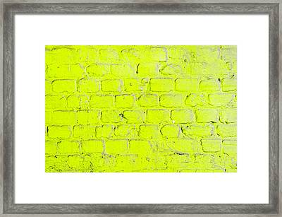 Green Brick Wall Framed Print