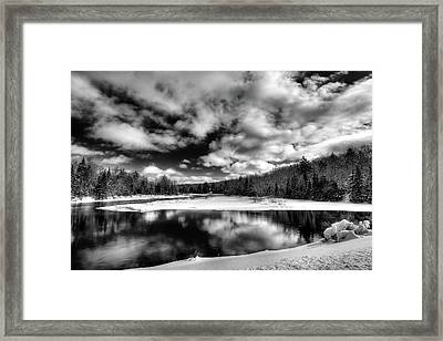 Framed Print featuring the photograph Green Bridge Solitude by David Patterson