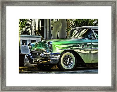 Green Buick Framed Print