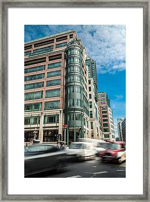 Green Building On Liverpool Metro Station London Framed Print
