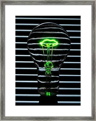 Green Bulb Framed Print