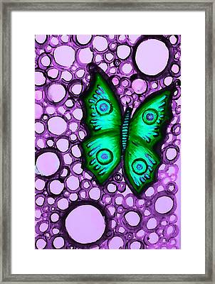Green Butterfly II Framed Print by Brenda Higginson