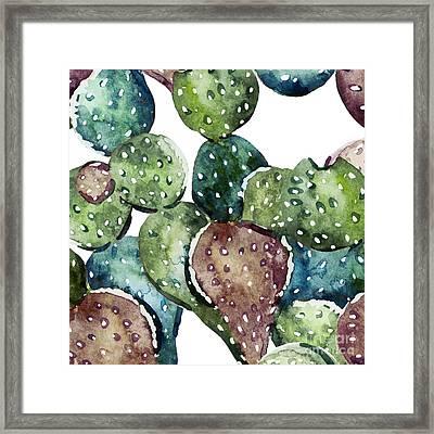 Green Cactus  Framed Print