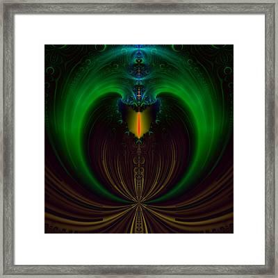 Green Candle Framed Print by Sfinga Sfinga