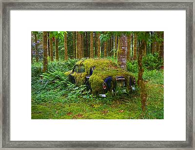 Green Car Framed Print by Ulrich Burkhalter