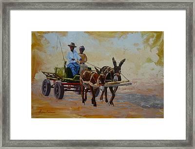 Green Cart Framed Print by Yvonne Ankerman