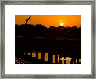 Green Cay Sunrise Framed Print by Don Durfee