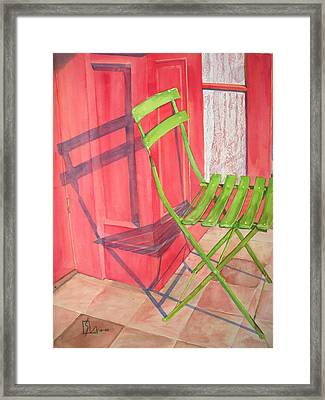 Green Chair Framed Print