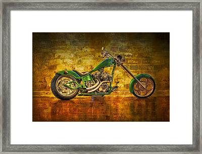 Green Chopper Framed Print by Debra and Dave Vanderlaan