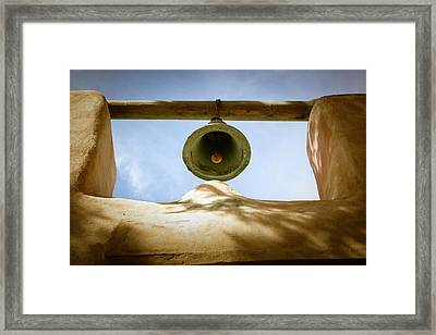 Framed Print featuring the photograph Green Church Bell by Marilyn Hunt