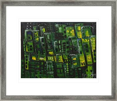 Green Cities Framed Print by Maria Curcic