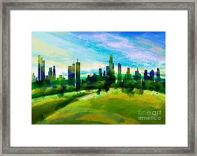 Green City Framed Print by Bedros Awak