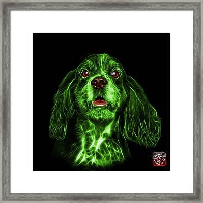 Green Cocker Spaniel Pop Art - 8249 - Bb Framed Print